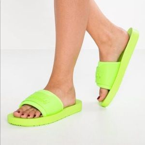 Puma Shoes   Neon Fenty Slides   Poshmark